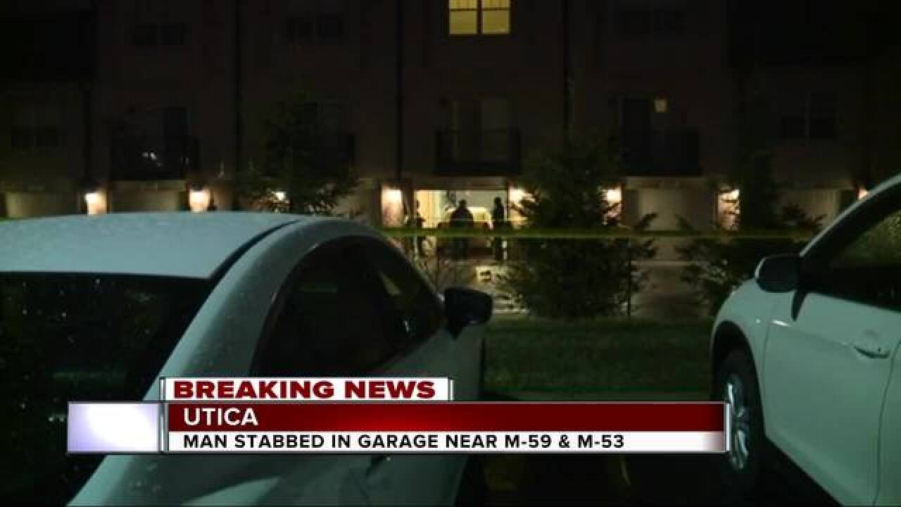 Stabbing reported outside of Utica condo