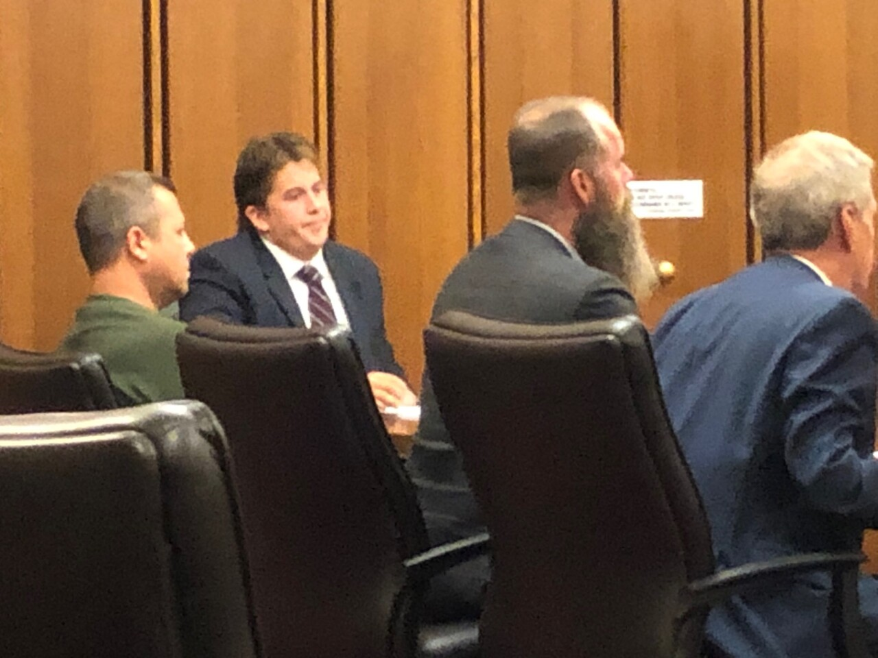 Evans and Dugan in court