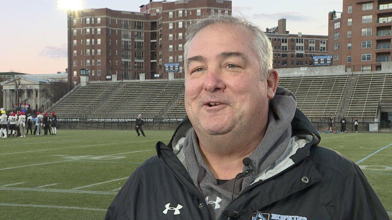 johns hopkins university head football coach passes away