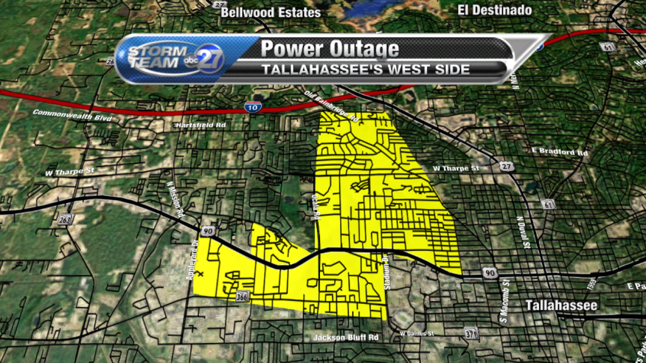 Power Outage Map Tallahassee Morning Storms Cause Widespread Power Outages