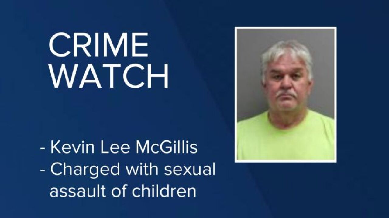 Kevin Lee McGillis charged with sexual assault of children