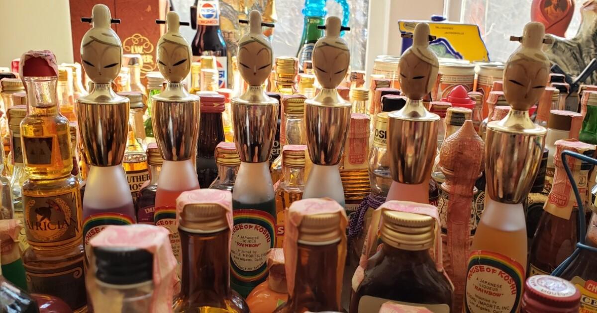 Man inherits 200+ antique liquor bottles