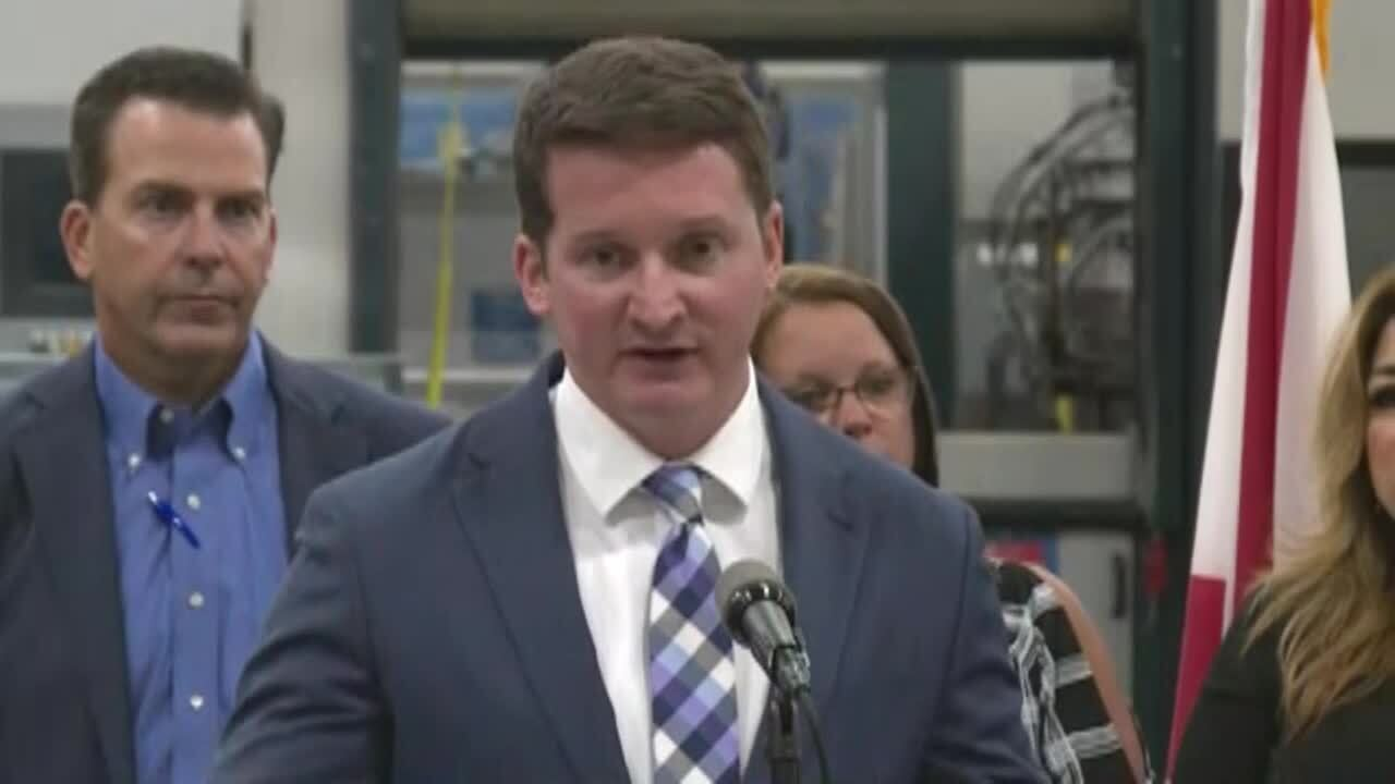Dane Eagle, Florida Department of Economic Opportunity secretary at TAMCO in Port St. Lucie, Aug. 5, 2021