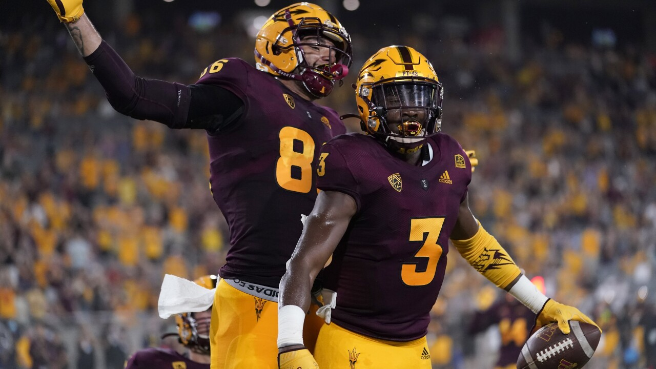 Darien Butler had two interceptions and No. 25 Arizona State used its punishing run game to overcome some sloppy moments in a season-opening 41-14 win over Southern Utah. AP photo.