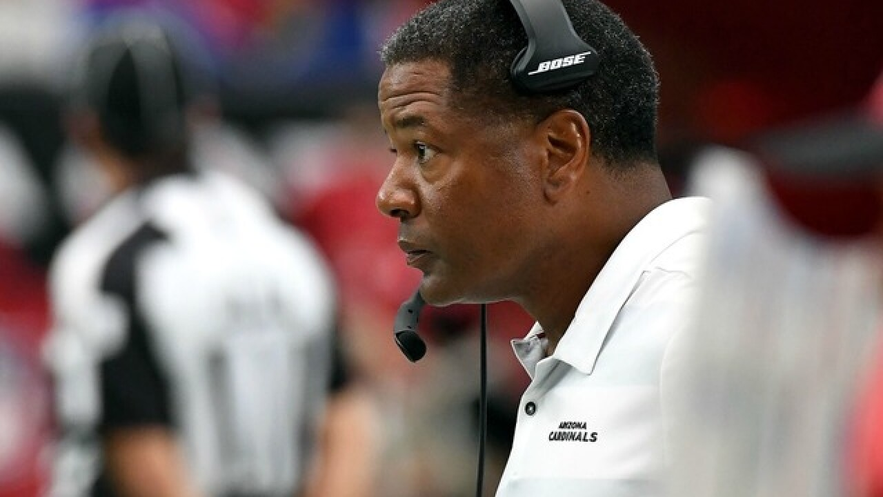 Cardinals coach Steve Wilks questioned about late play call vs. Bears