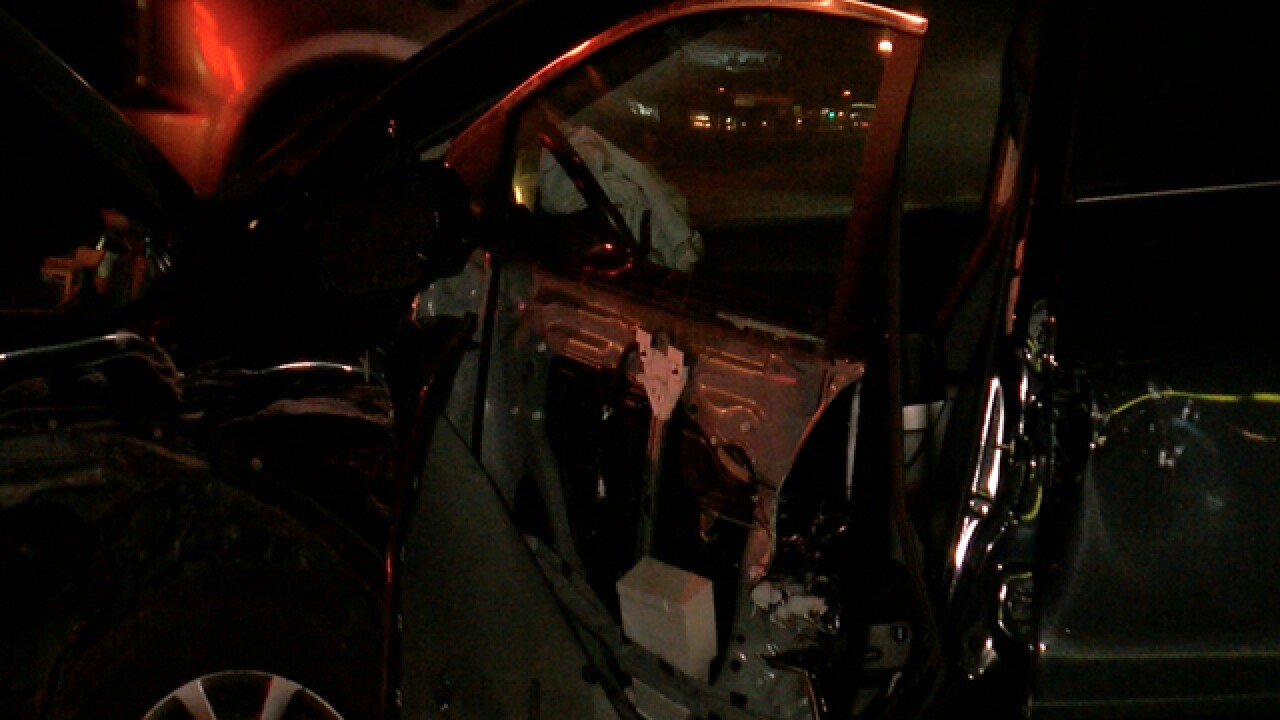 Multiple cars damaged in hit-and-run