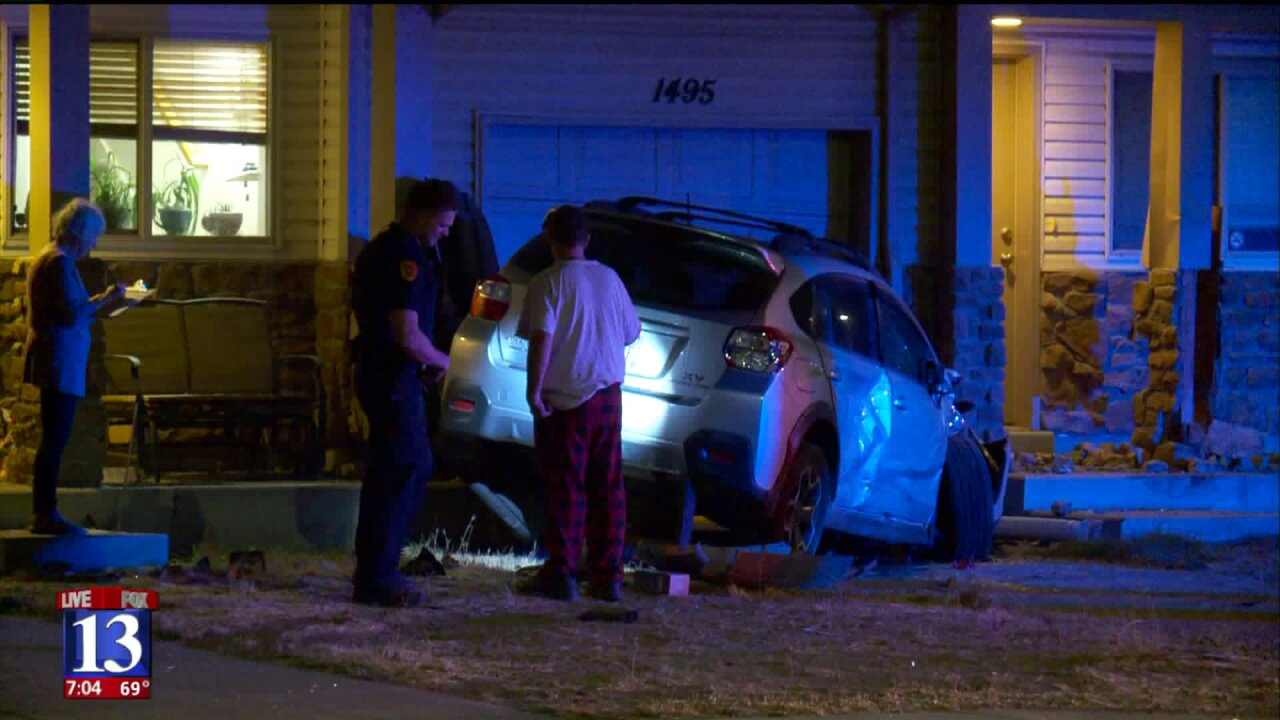 Police: Man falls asleep at the wheel, crashes into three cars and a building