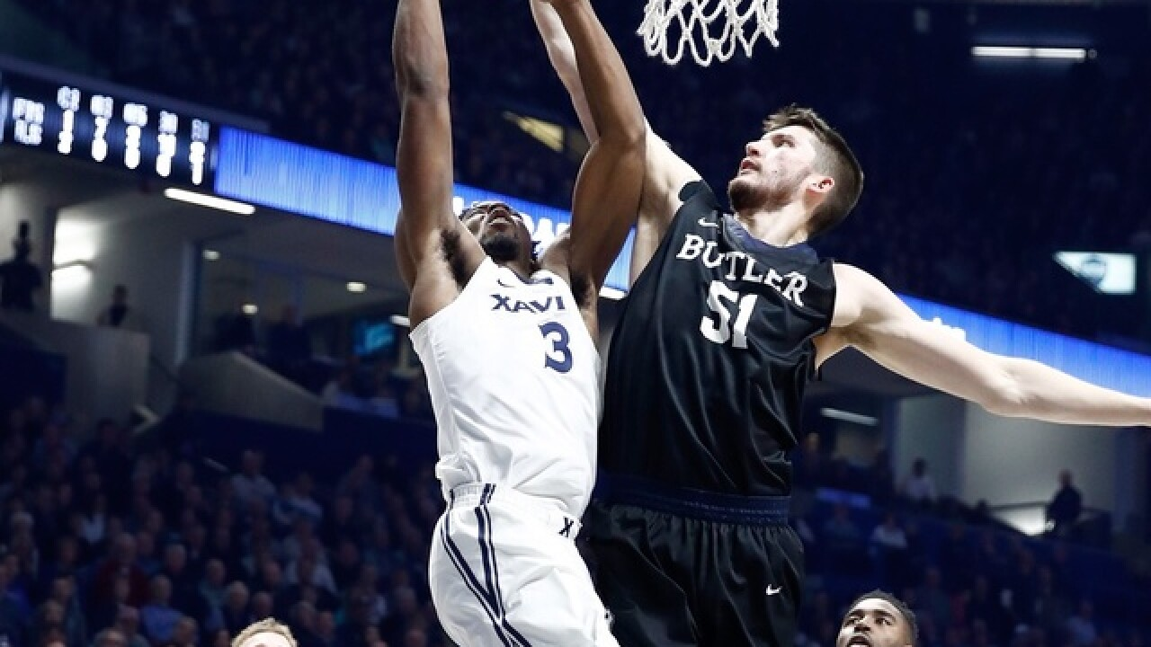 No. 5 Xavier beats Butler 86-79 for 10th straight victory