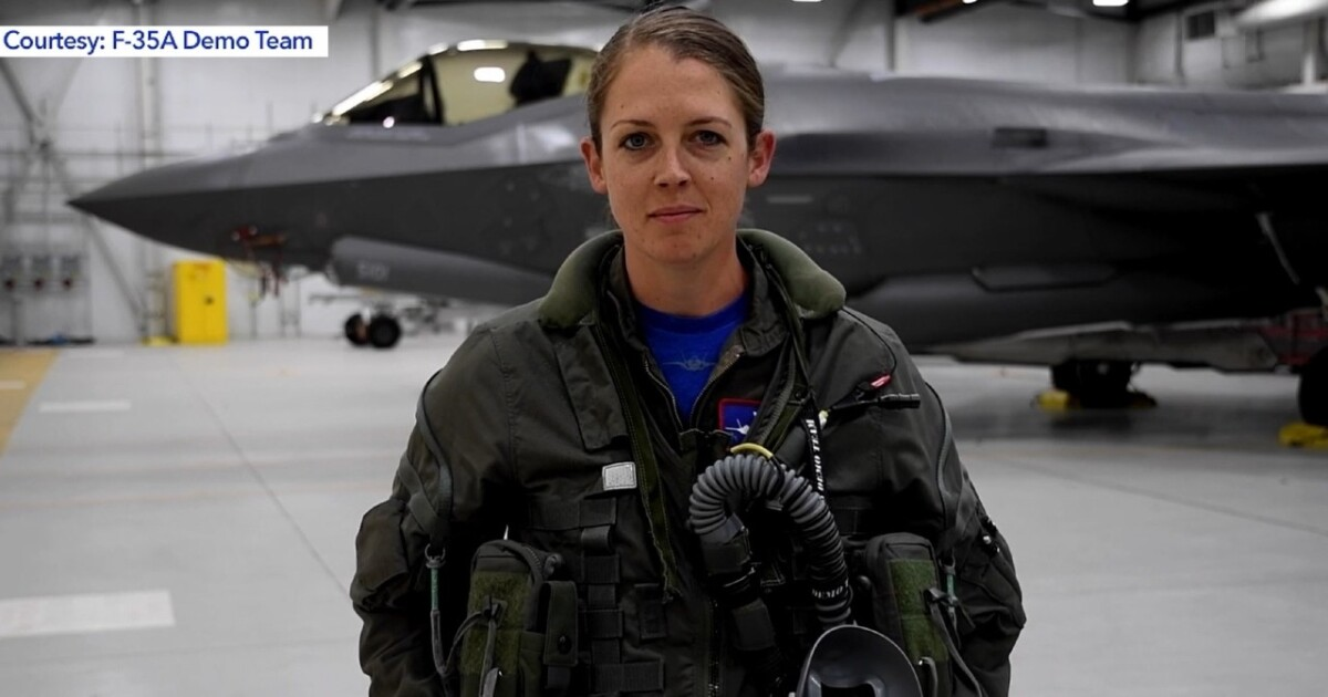 First female Commander of F-35A Demo Team hopes to inspire girls to dream big