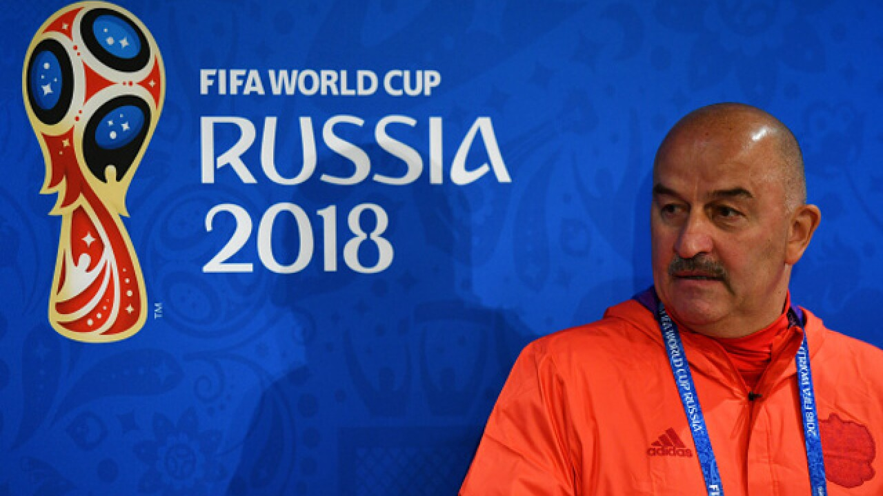 Mustaches, silly songs defuse tensions at Russia's World Cup