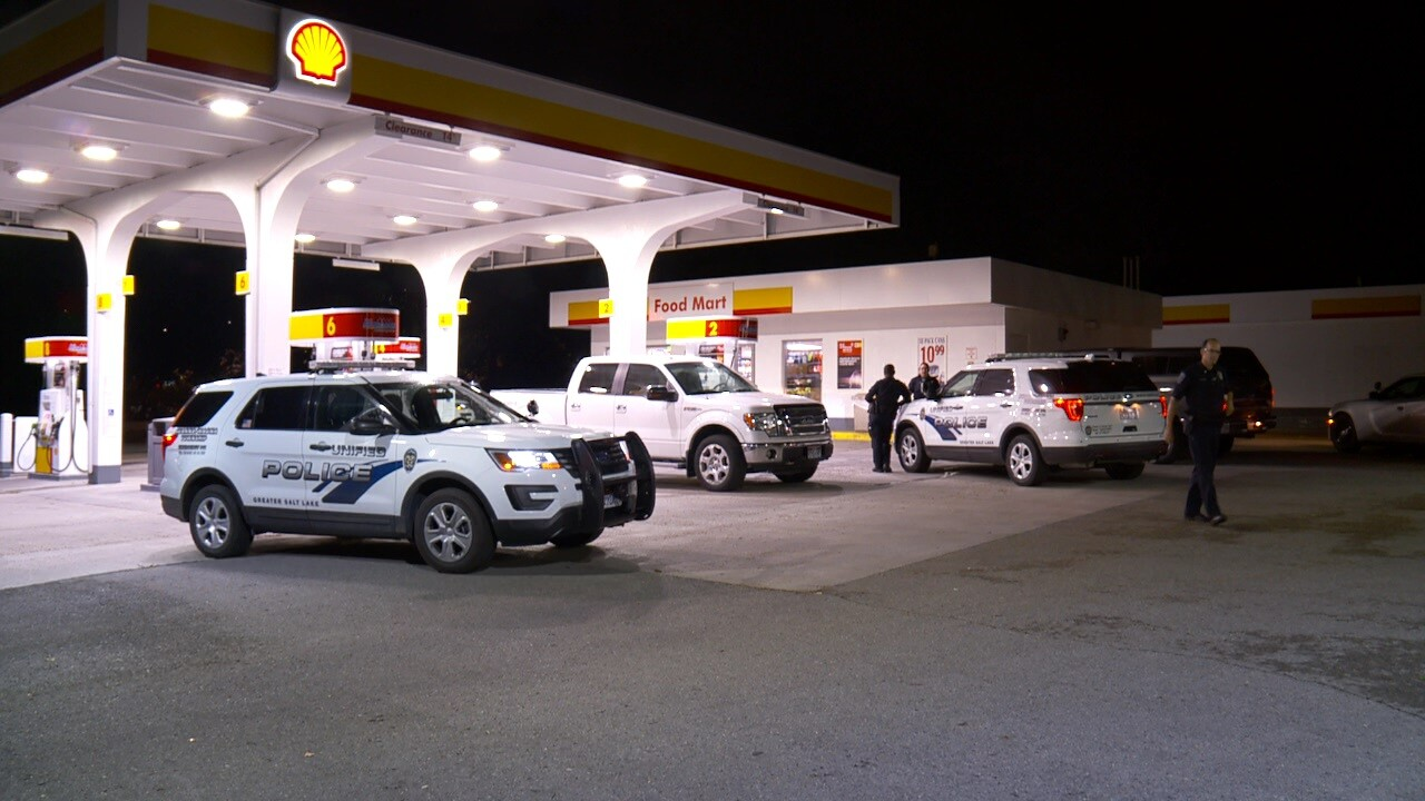 Police searching for men accused of robbing gas station whilearmed