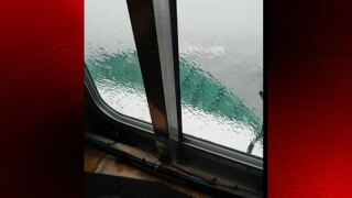 Video shows rough waters on Tuesday near where vessel capsized.jpg