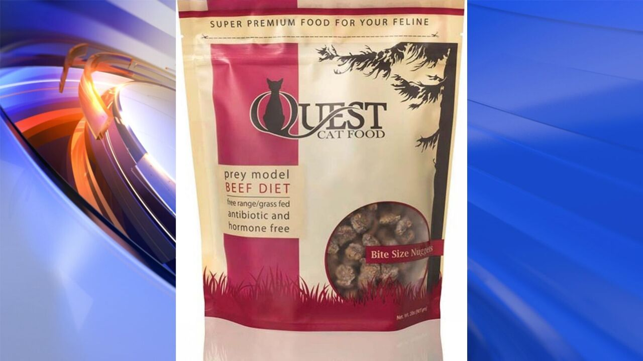 Cat food sold nationwide is recalled over risks to pets and humans