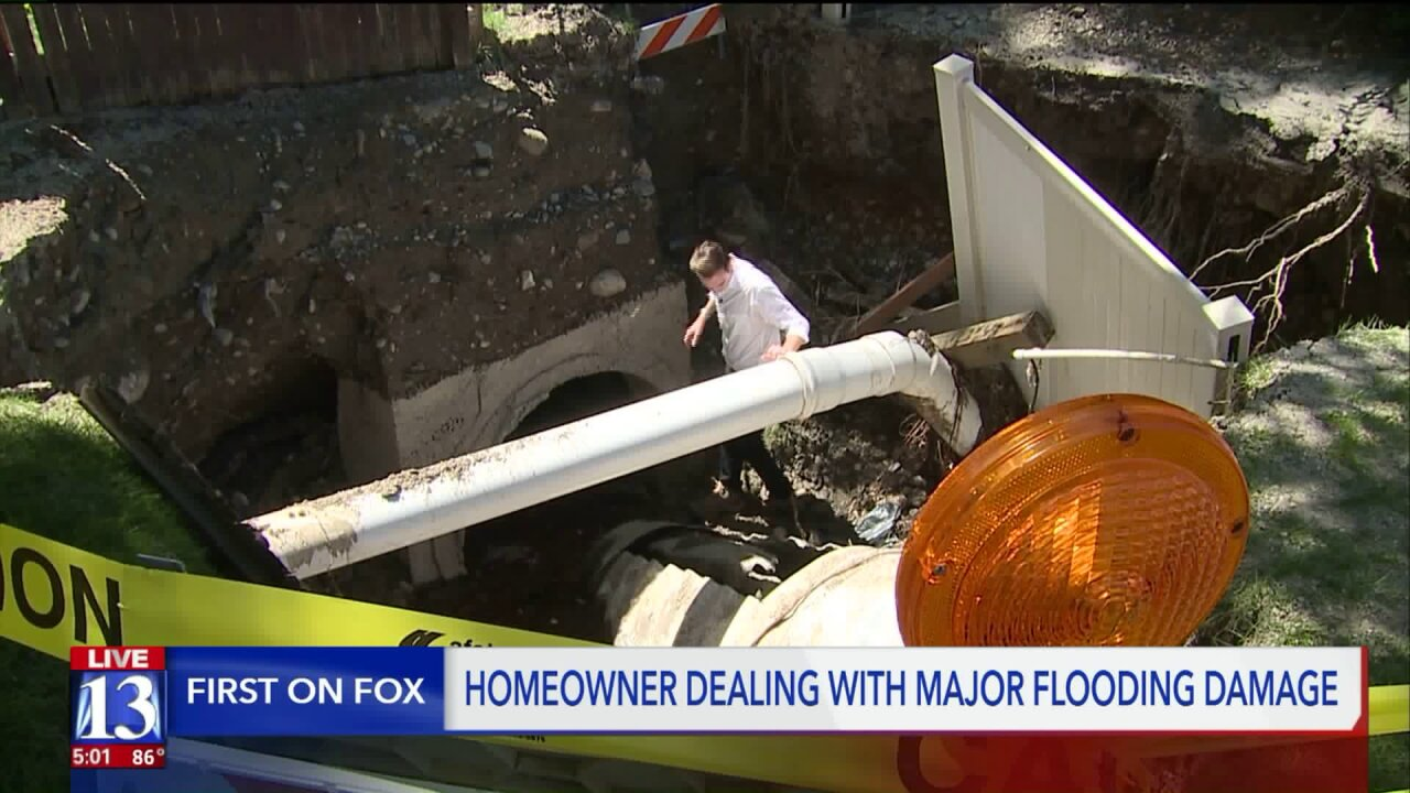 City's insurance may not cover damage from smashed storm drain pipe, Cottonwood Heights residentsays