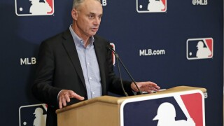 Commissioner Rob Manfred says baseball season in jeopardy