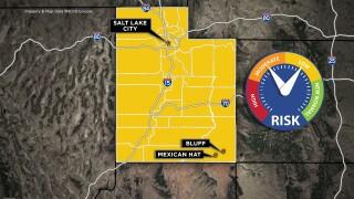 Coronavirus map Utah