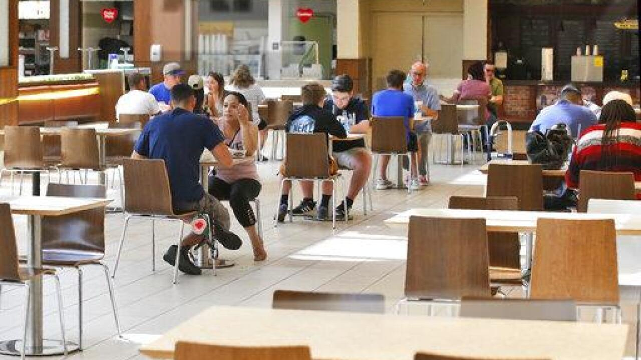Mall food courts