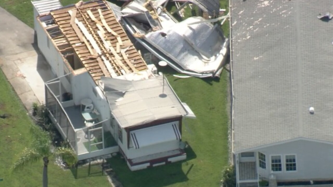 Strong storm winds rip apart Palmetto homes