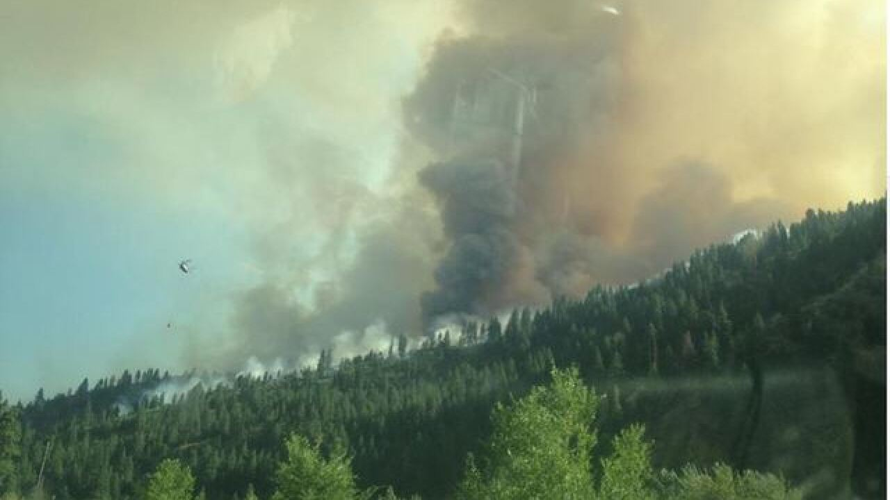 Two firefighters hurt by Rattlesnake Creek Fire