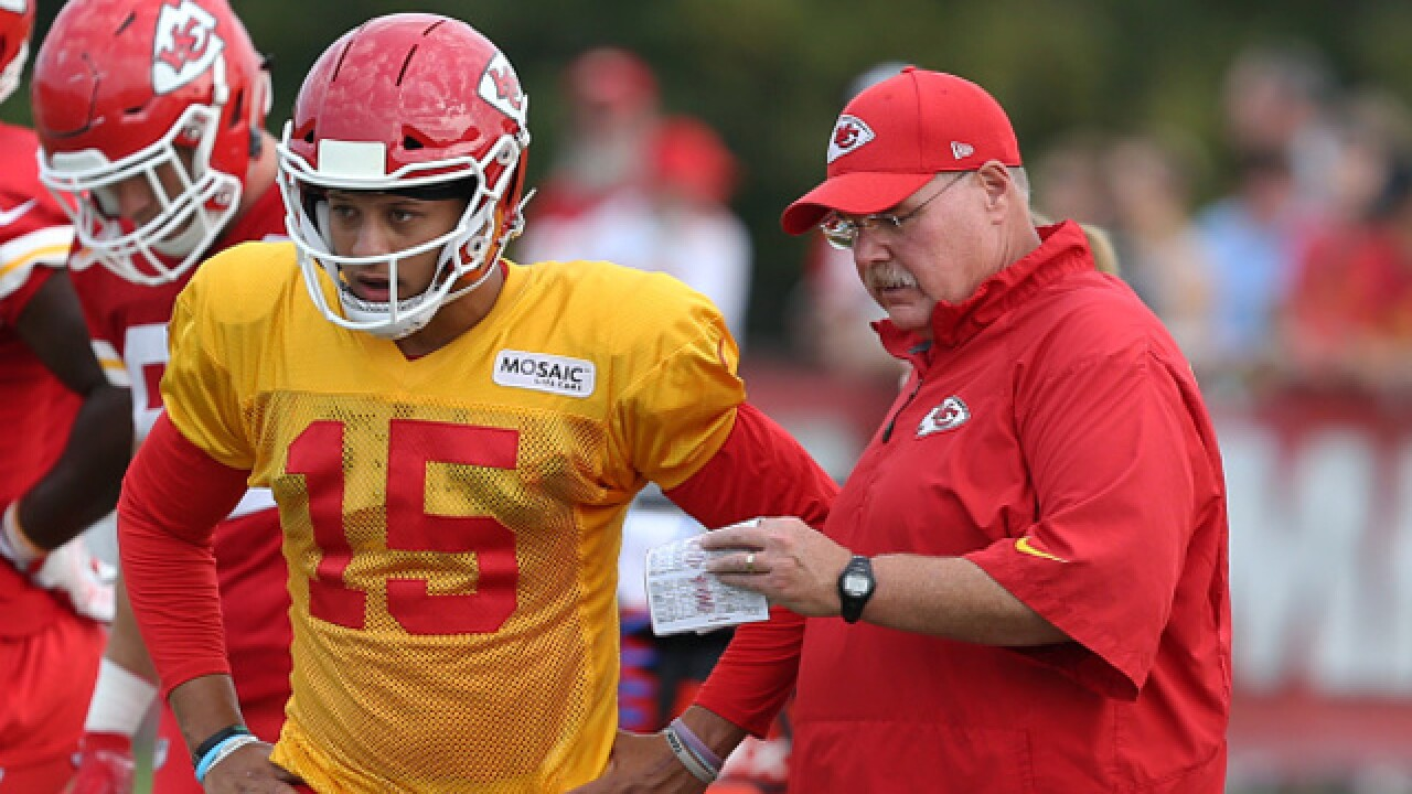 Chiefs Quarterback is learning from the best