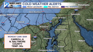 Frost Advisories Issued