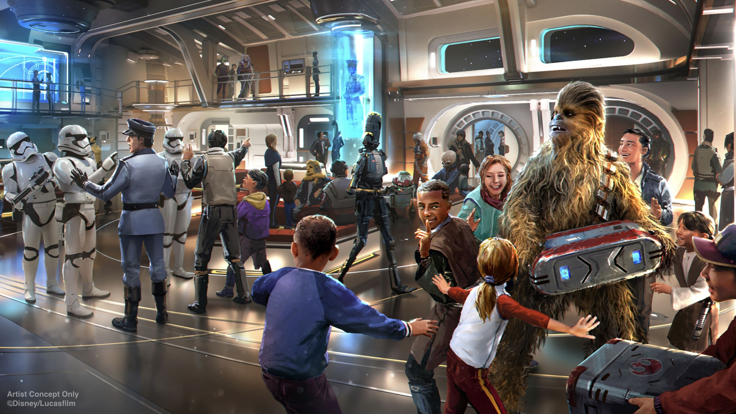 Star Wars: Galactic Starcruiser Atrium