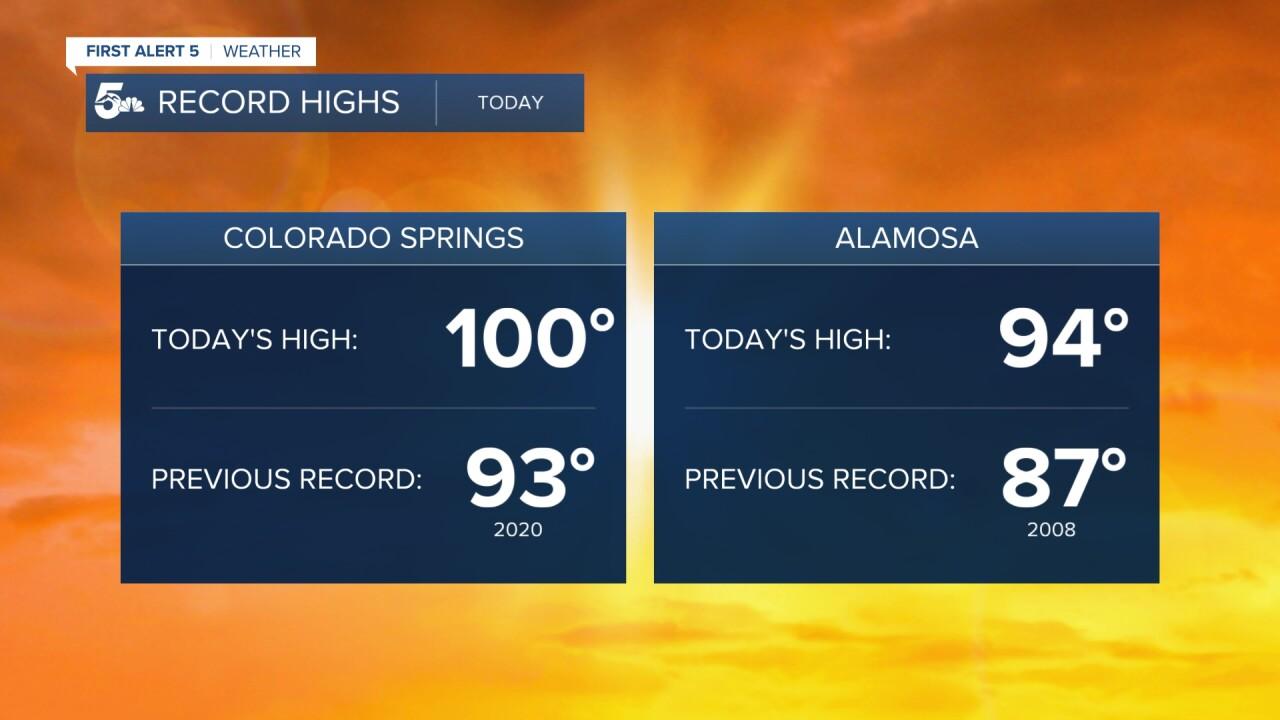 Southern Colorado record heat