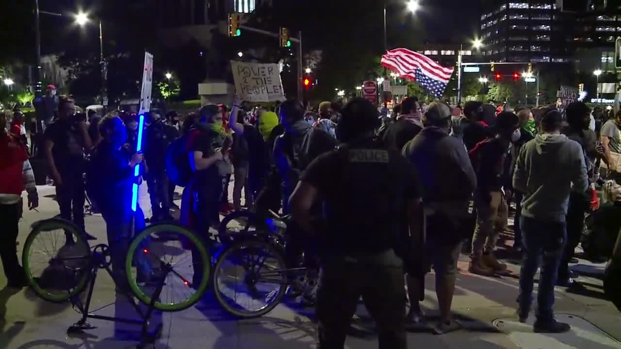 Detroit protests escalate