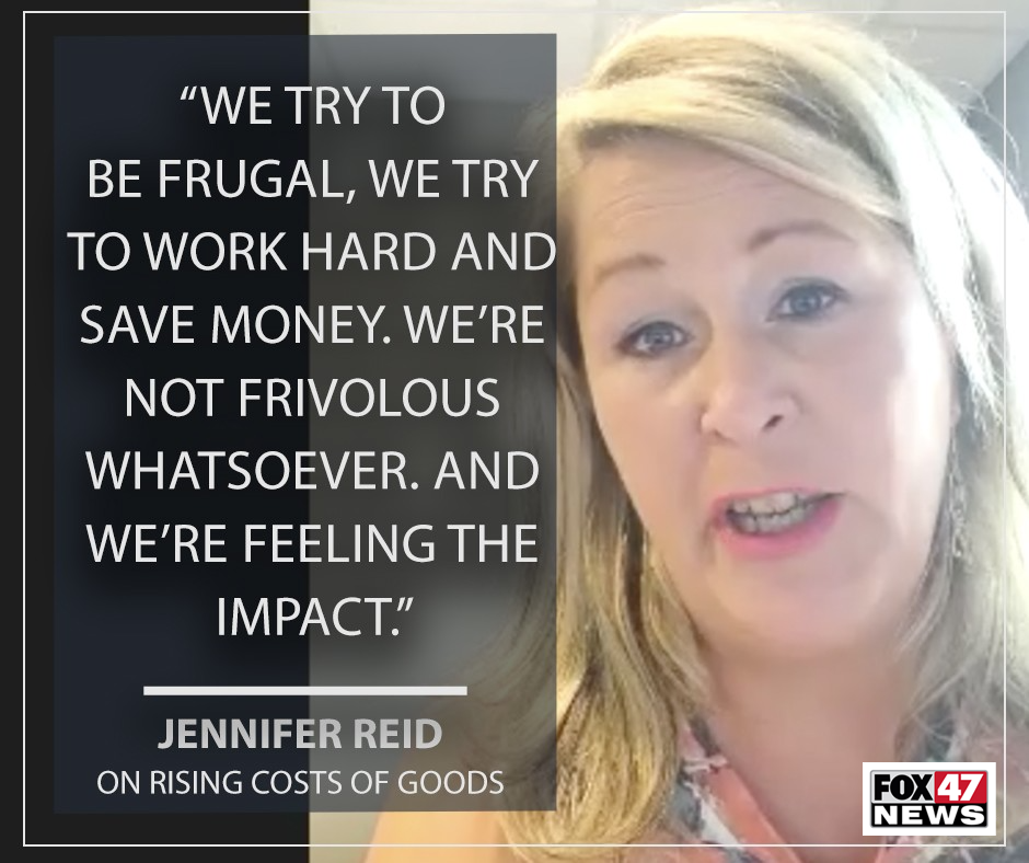 Jennifer Reid on the rising costs of goods