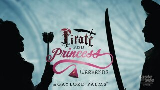 Gaylord Palms is pleased to announce that Pirate and Princess Weekends will return on weekend dates from January 8 to March 7, 2021, featuring a wide array of family-friendly activities both inside the resort's atriums and outside at Cypress Springs Water Park.