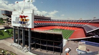 When Mile High Stadium floated on water, the Broncos' old home transformed in hours