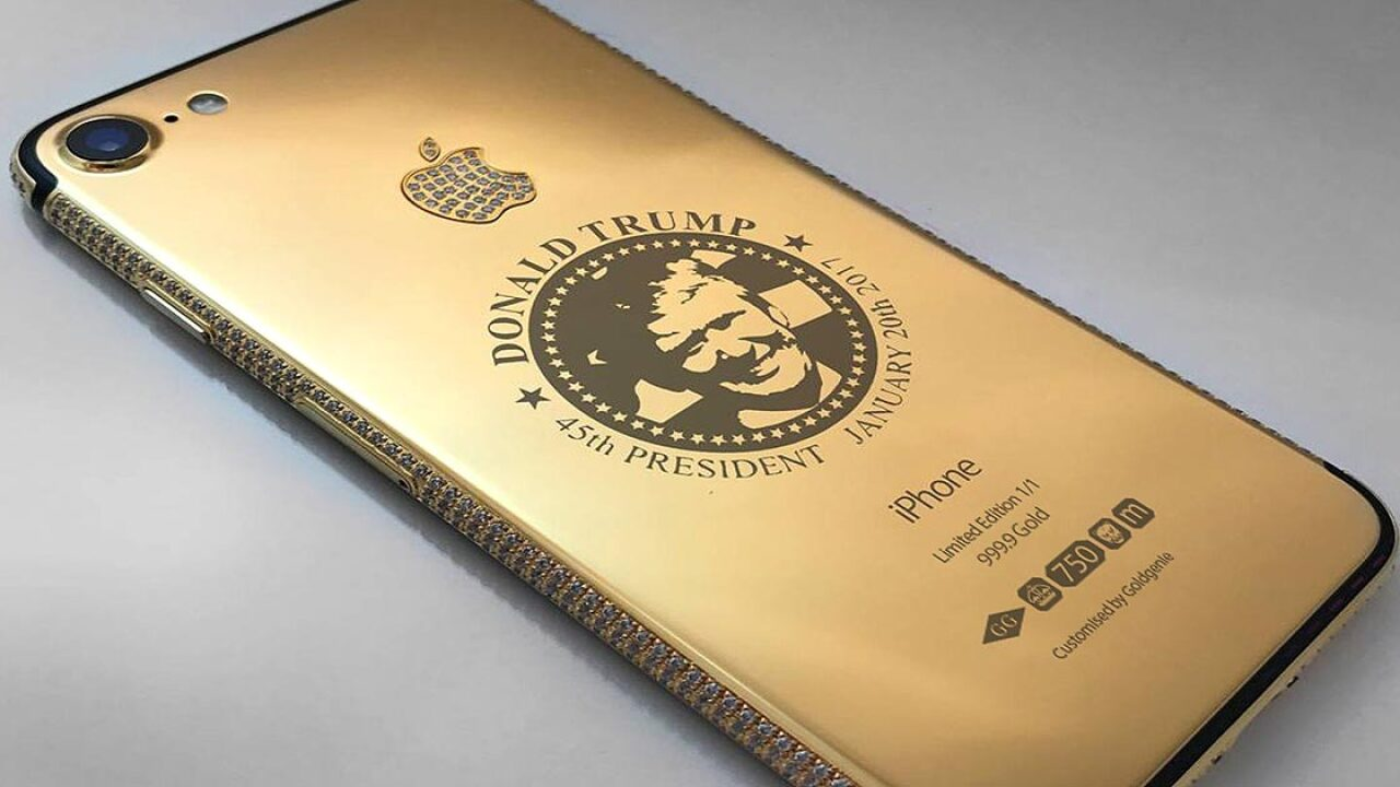 This store is selling gold-plated Trump iPhones to the super rich