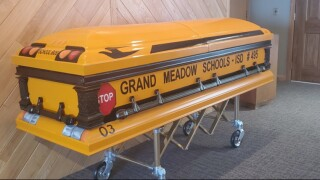 Man who drove generations of students to be laid to rest in school bus casket