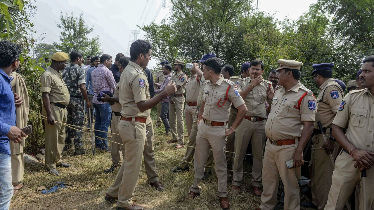 Suspects in Indian gang-rape murder shot dead by police during night 'reconstruction'