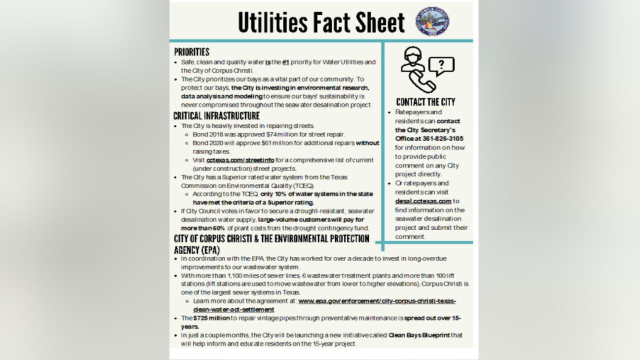 Utilities fact sheet