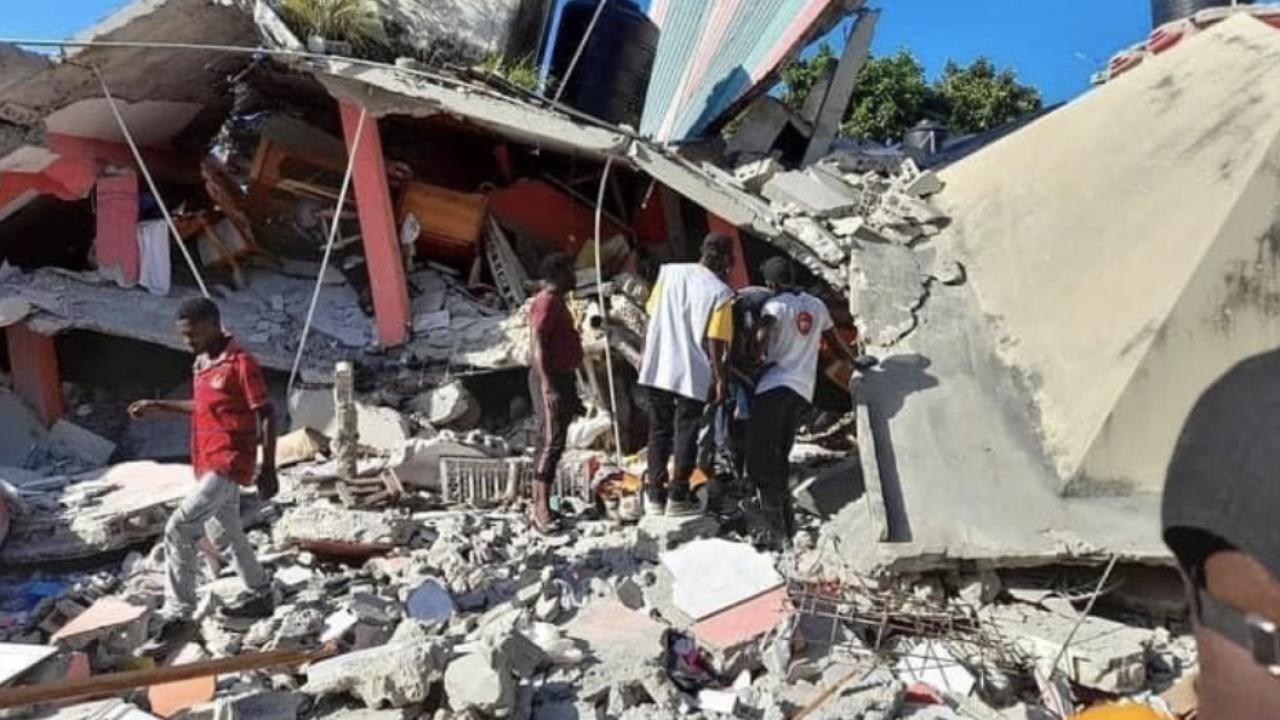 Local pastor's family members lose their homes in Haitian quake
