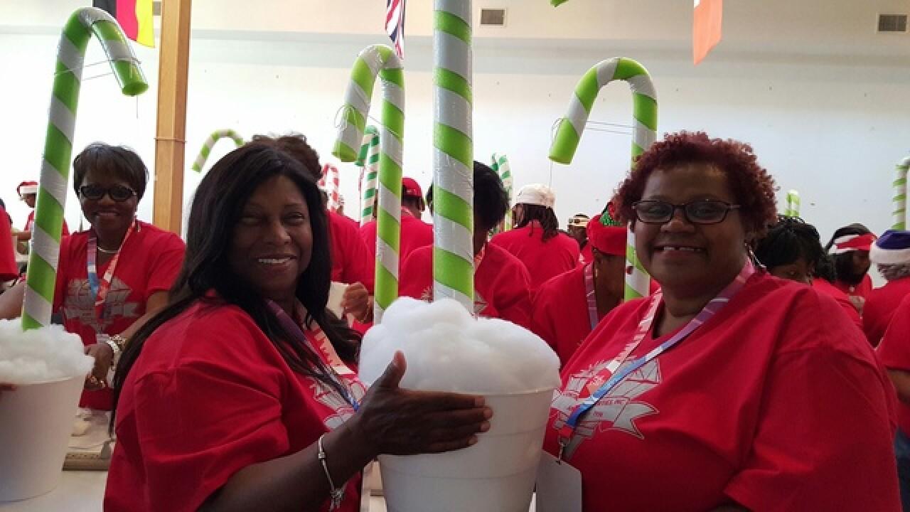 Volunteers prepare for Christmas in June