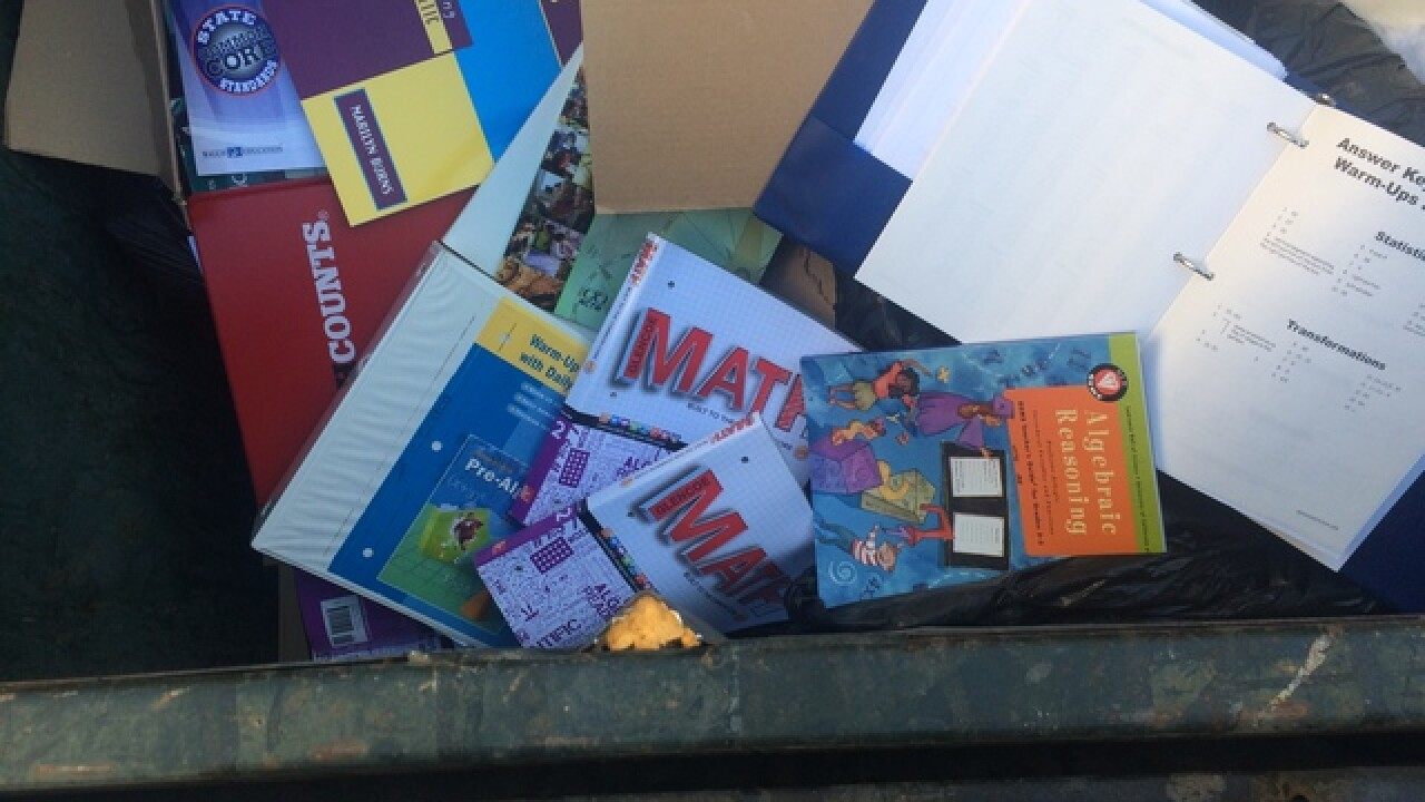Books and equipment trashed at Fertitta MS