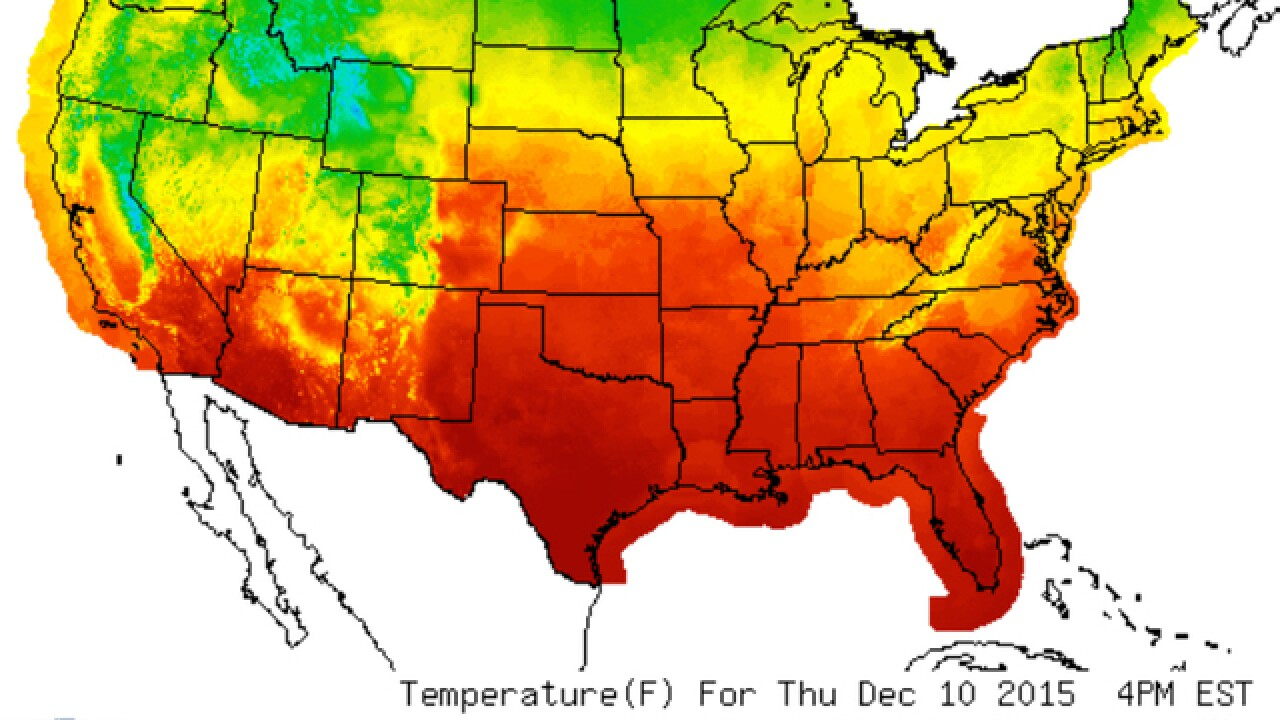 Record-breaking warmth for Mid-December
