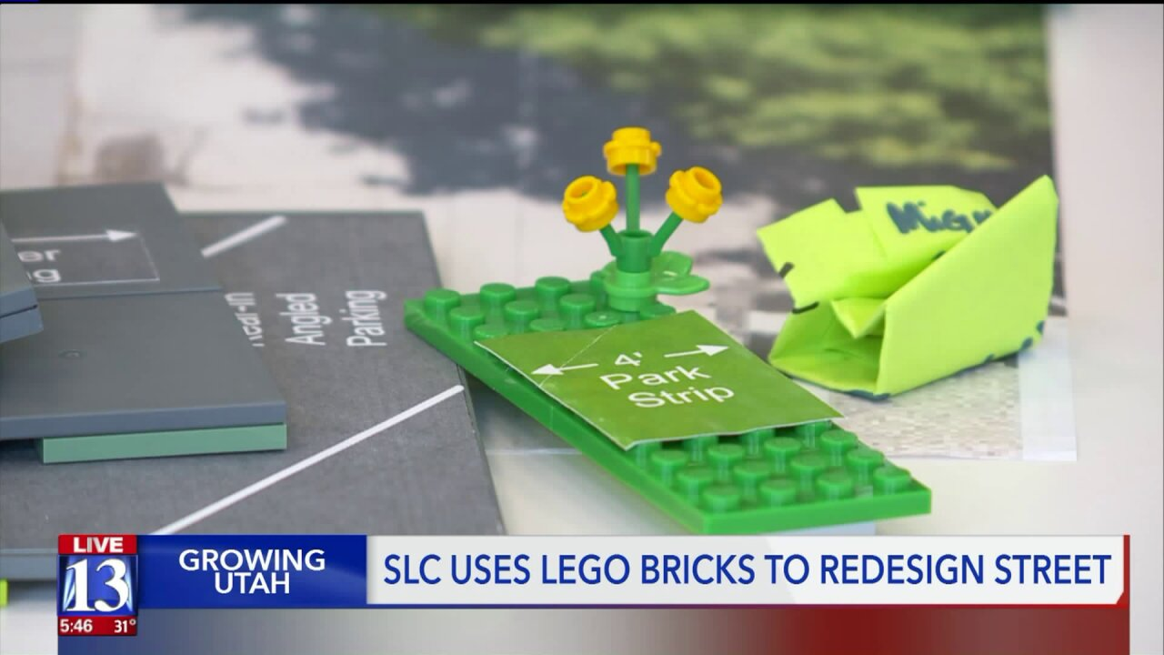 To redesign a major Salt Lake City street, transportation officials use Legos