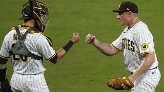 Pirates Padres Baseball austin nola mark melancon