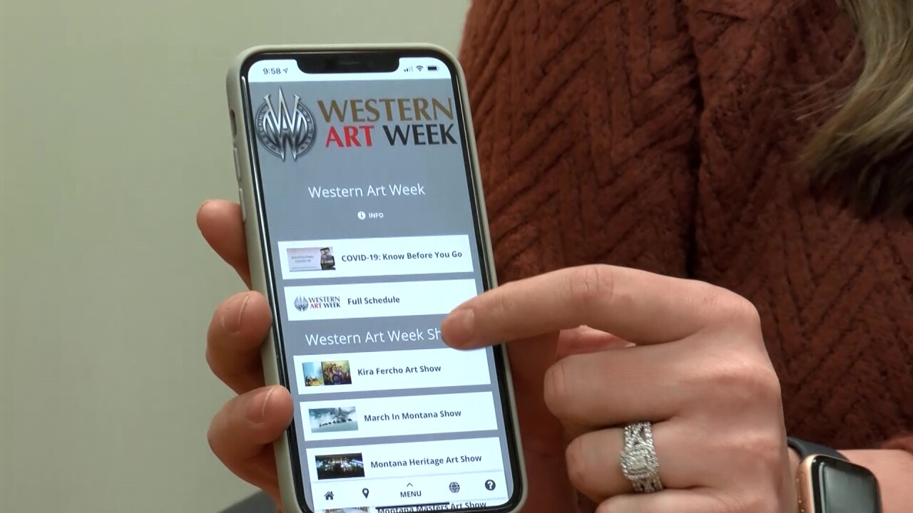 Great Falls Montana Tourism has created an app-like website for Western Art Week