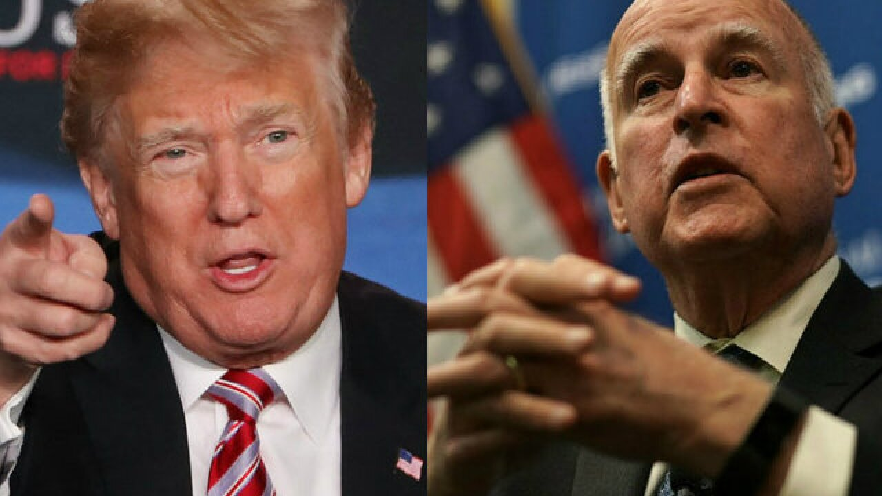 President Trump, California Gov. Jerry Brown trade jabs on National Guard at border