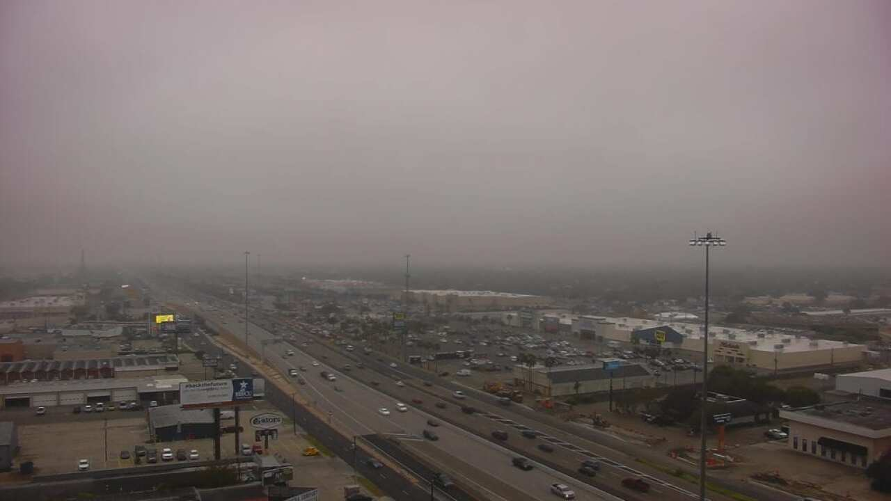 Cloudy, murky skies to persist into Tuesday