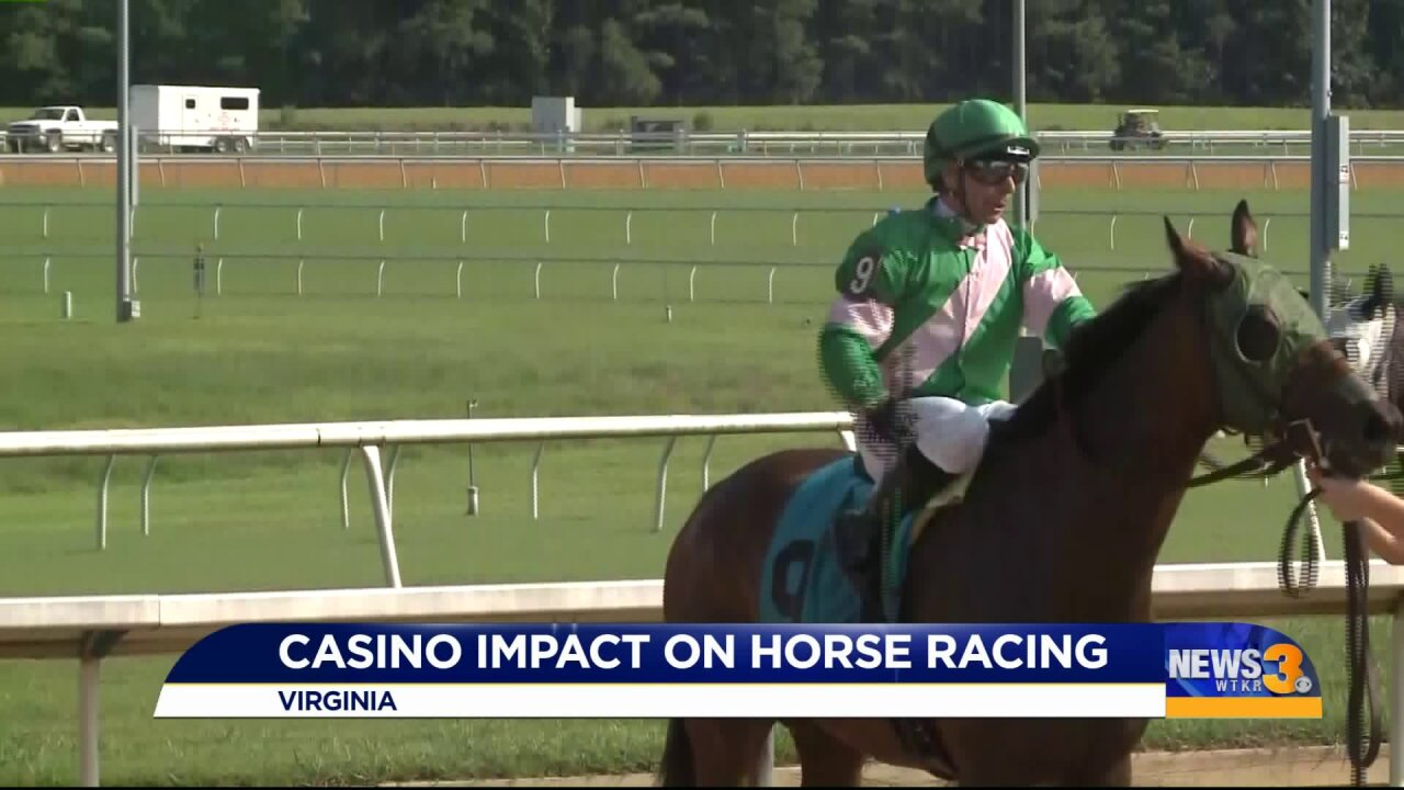 Horse racing industry worries about potential impact of casinos inVirginia