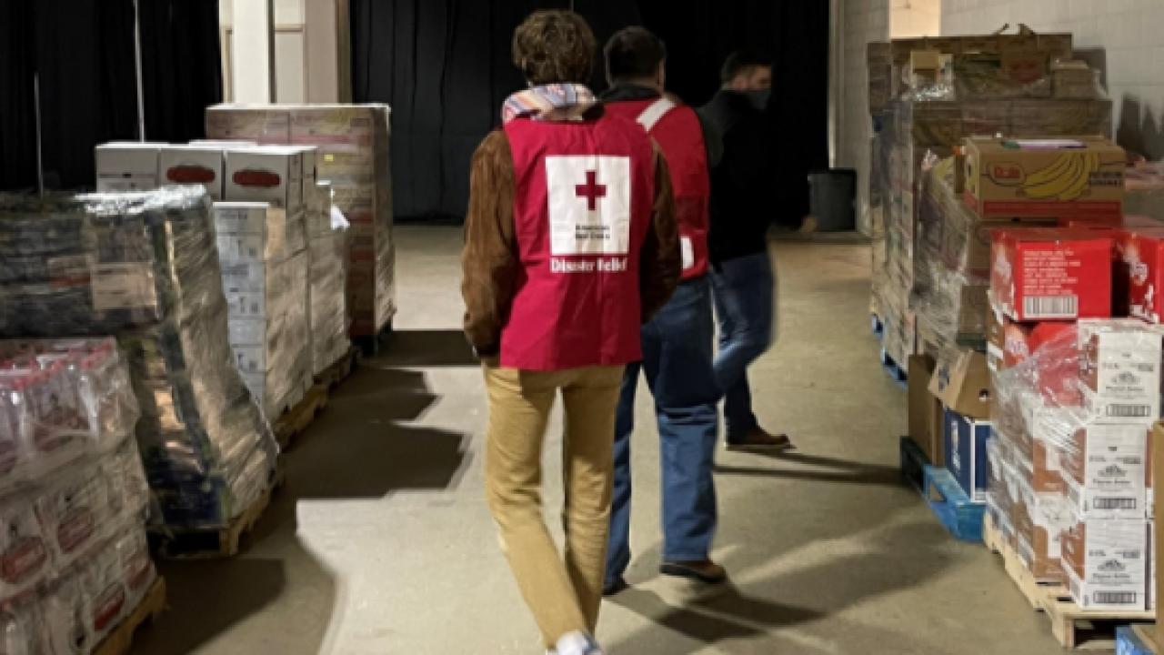 Red Cross Volunteer Aggies Reed Arena