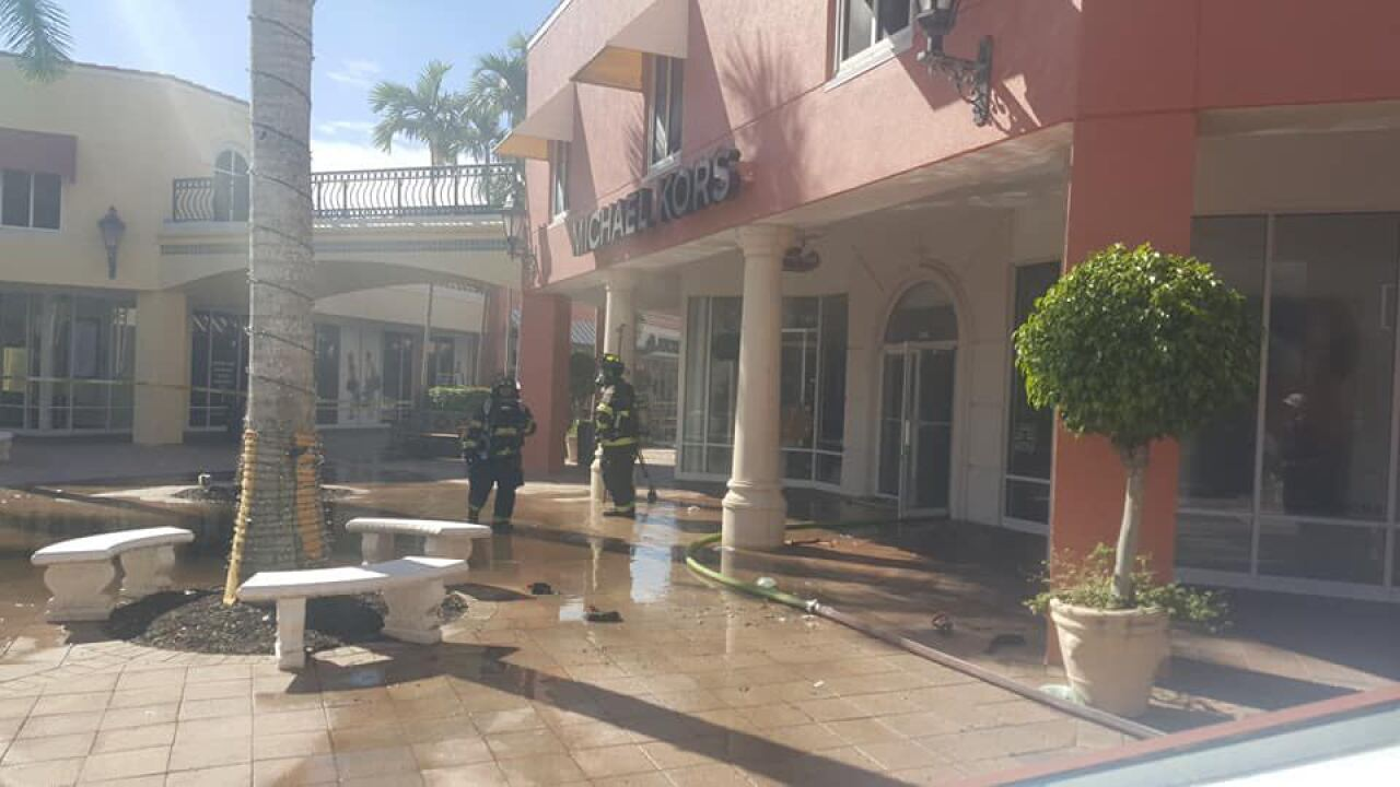 Fire causes evacuations at Miromar Outlets