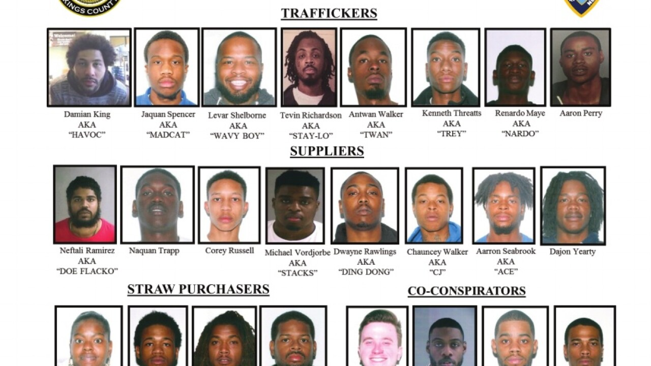 22 Virginia residents arrested in largest gun bust in Brooklyn history