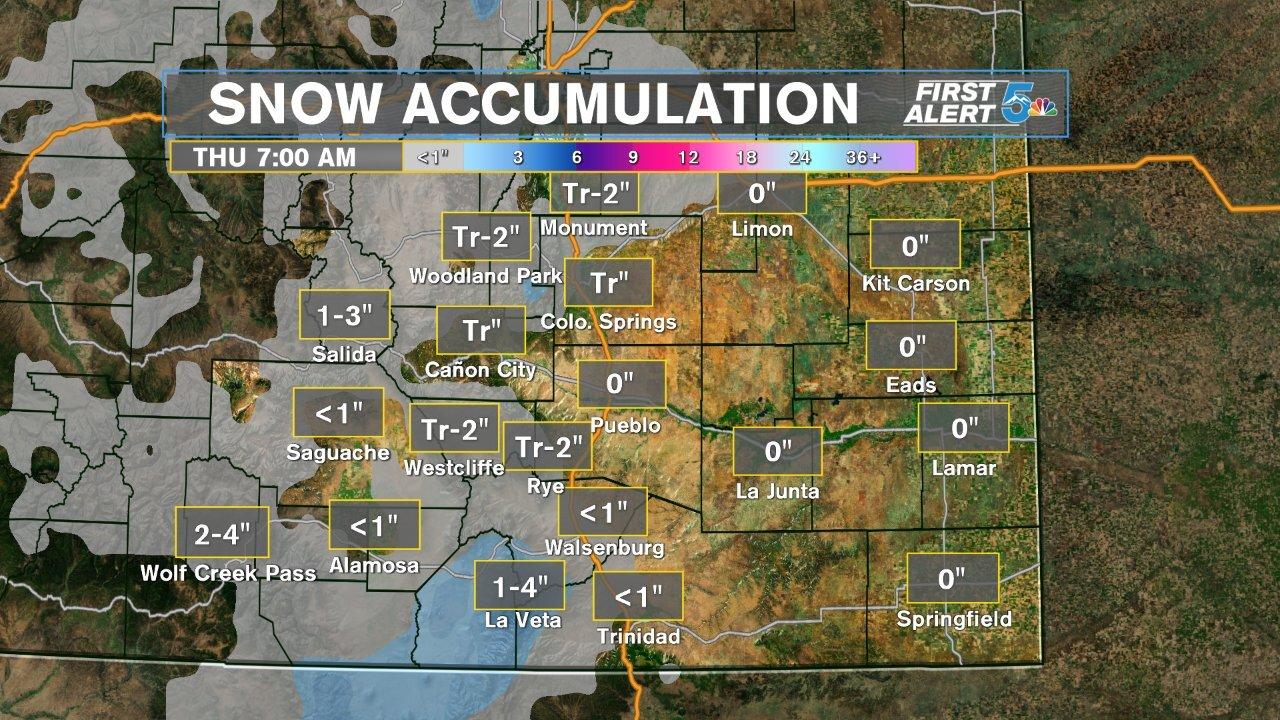 Snow Accumulation 1/29-1/30 2020