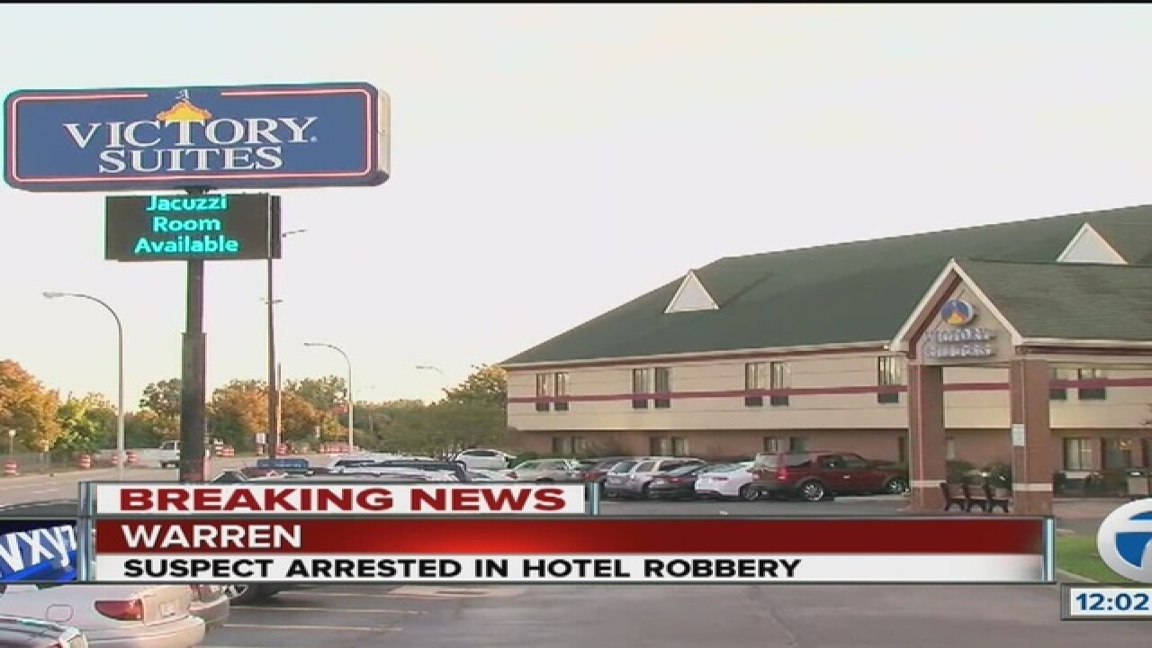 Robbery & shots fired reported at Warren hotel